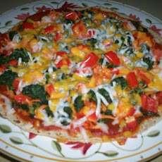 Accidental Veggie Tortilla  Pizza