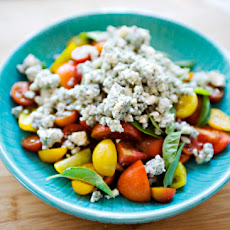 Tomato, Basil, and Blue Cheese Salad