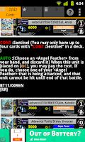 Screenshot of Cardfight Vanguard Database