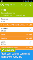 Screenshot of Calorie Counter