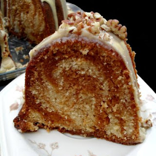 BUTTERSCOTCH SWIRL CAKE