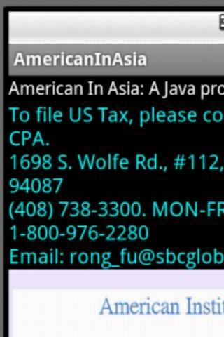 American in Asia