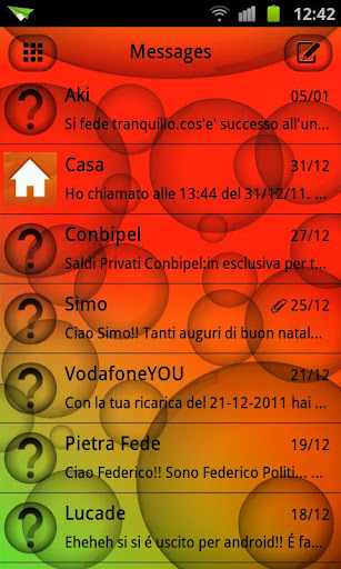 SMSバブルダークテーマゴー