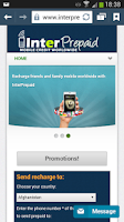 Screenshot of Interprepaid Mobile Recharge