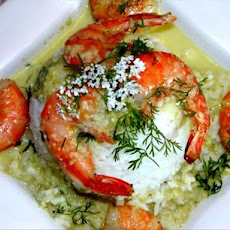 Smoked Shrimp With Poblano-Tomatillo Sauce