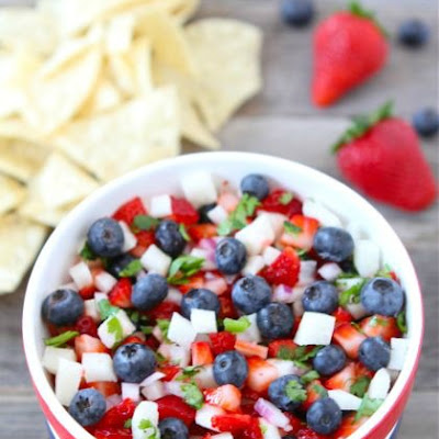 Blueberry, Strawberry & Jicama Salsa
