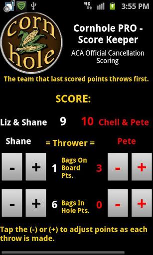 Cornhole PRO - Score Keeper