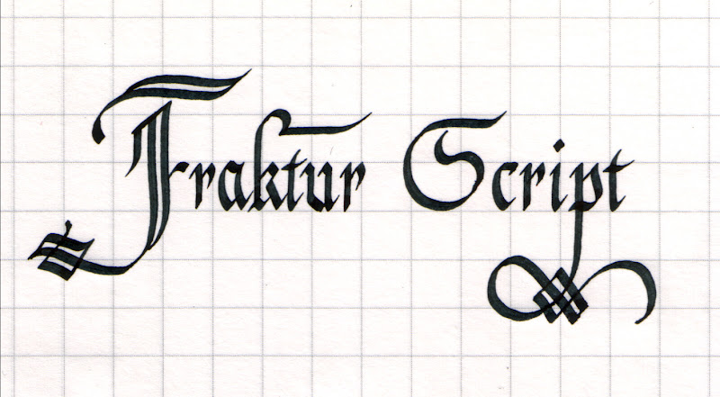 Intrigued By Fraktur Script Calligraphy Discussions
