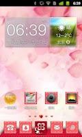 Screenshot of 红粉佳人 - 360桌面主题