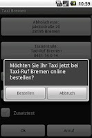 Screenshot of Taxi Bremen