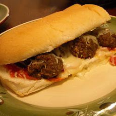 Microwave Meatball Sandwich in Ten Minutes