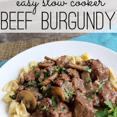 Easy Crock Pot Beef Burgundy