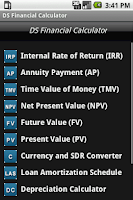 Screenshot of DS Financial Calculator