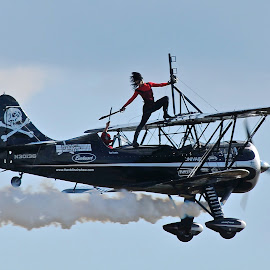 Pirates In The Sky by Roy Walter - Transportation Airplanes ( flight, biplane, airplane, transportation, stunt pilot )