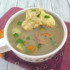 Chunky Steak and Vegetable Soup (with Dumplings)