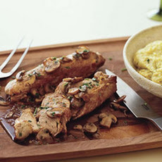 Pork Tenderloin with Cheesy Polenta