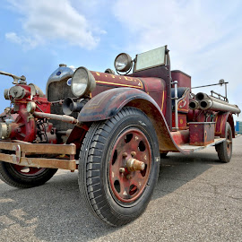 Fire Truck 01 by Joe Shortridge - Transportation Other ( michigan, old, hdr, ohio, vintage, truck, town, fire truck, rusty, transportation, rust, antique )