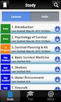 Screenshot of Army Survival Study Guide