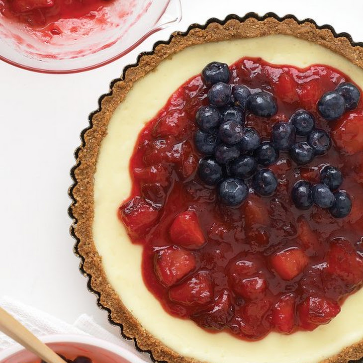 Red, White, and Blueberry Cheesecake Tart Recipe | Yummly