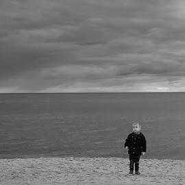 lonely by Morze Pobierowo - Babies & Children Children Candids ( session, children, sea, nikon, portrait )
