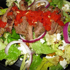 Beef, Arugula and Red Pepper Pesto Salad