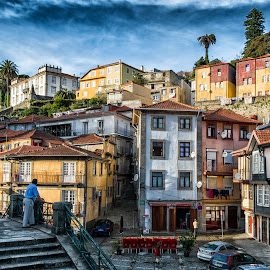 Porto old city by Guy Gillade - City,  Street & Park  Historic Districts