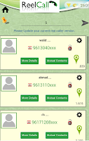 Screenshot of ReelCall real id caller number