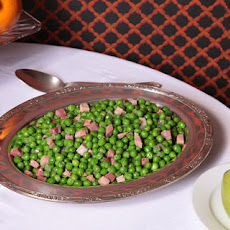 Sautéed Peas and Ham