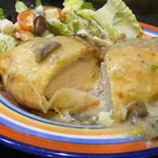 Chicken Wellington With Mushroom Veloute Sauce