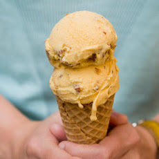 Roasted Apricot and Almond Ice Cream