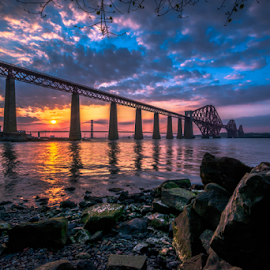 Forth Sunset by Craig Fraser - Landscapes Sunsets & Sunrises