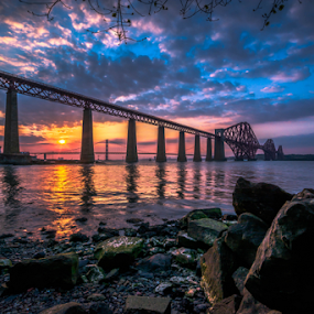 Forth Sunset by Craig Fraser - Buildings & Architecture Bridges & Suspended Structures