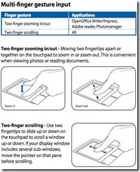 Multi-finger gesture input