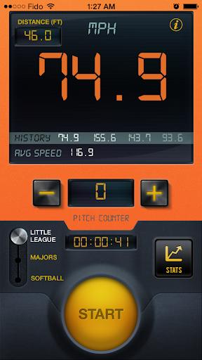 Baseball Pitch Speed Radar Gun - screenshot
