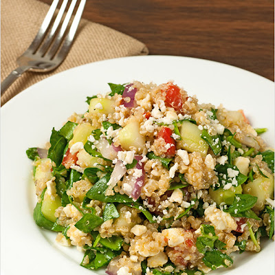 Greek Spinach and Quinoa Salad