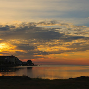 OBX Sunset by Peter Andrusyszyn - Landscapes Sunsets & Sunrises ( photo by pete andrusyszyn, 2014, sunset, outer banks, frisco nc )