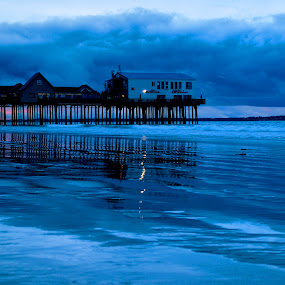 Blue Morning by Luc Belisle - Landscapes Waterscapes ( old orchard pier )