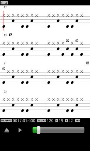 MIDI Drum Score Player