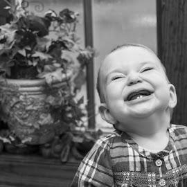 First Thanksgiving by Marsha Duregger - Babies & Children Babies ( joyful, precious, baby girl, thanksgiving, laughter )