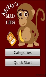 Milly's Mad Libs - screenshot