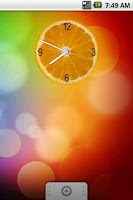 Screenshot of Orange Slice Clock Widget 2x2