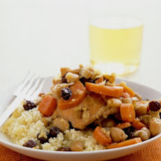 Chicken Stew with Carrots, Chickpeas, and Raisins