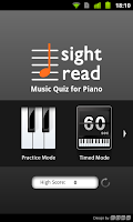Screenshot of Sight Read Music Quiz 4 Piano
