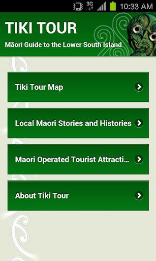 Tiki Tour Map