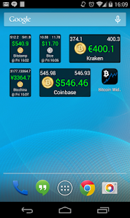 Bitcoin Ticker Widget screenshot for Android