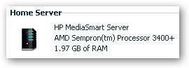 Home Server RAM upgrade - the readout shows 1.97GB now.