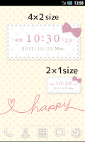 Screenshot of Cute and girly Clock Widget