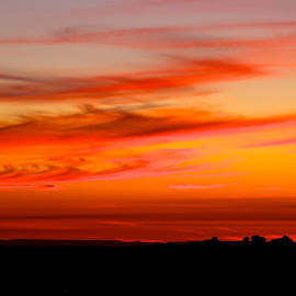 Tangerine Sky by John Slot - Nature Up Close Other Natural Objects ( sky, color, sunset, tangerine )