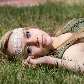 Green Eyes by Venita McGuire - People Portraits of Women (  )