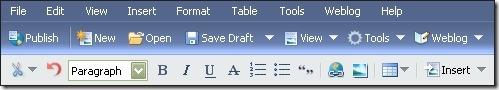 WLW toolbar
